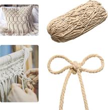 4/5 / 6mm Macrame Seil natürliche Beige Baumwolle verdrehte Schnur Artisan Hand Craft neu
