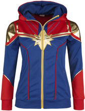 Captain Marvel - Cosplay -Hettejakke - rød, blå
