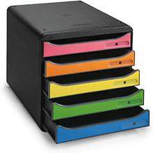 Schubladenbox schwarz/bunt
