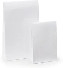 Lackpapier-Beutel mit Haftklebeverschluss weiß 140 x 55 x 230 mm