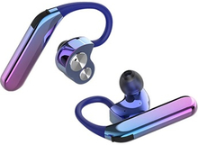 AIPAO X6 TWS Vandtæt Stereo Bluetooth Headset - IP67 - Metallisk Lilla / Blå