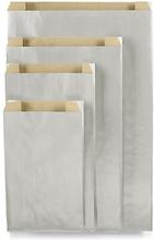 Edle Papierbeutel 240 x 75 x 390 mm Silber