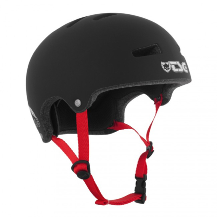 TSG Superlight Hjelm - Sort / Rød Straps