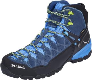SALEWA Alp Trainer Mid GTX Shoes Herre dark denim/cactus UK 7,5 | EU 41 2019 Fjellsko