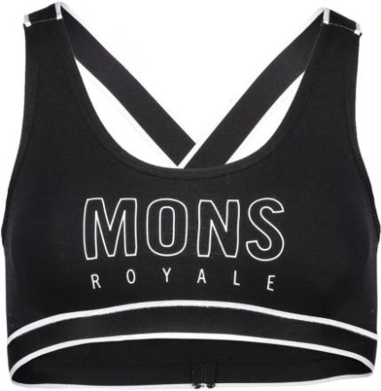Mons Royale W's Stella X-Back Bra Black XS 2018 Yoga klær