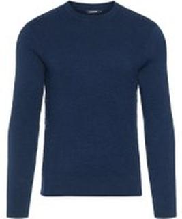 J.LINDEBERG Taylon Micro Crinkled Knit Sweater Man Blå