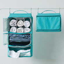Tragbare Reise abnehmbare große Kapazität hängende Tasche Leinwand Tuch Schrank