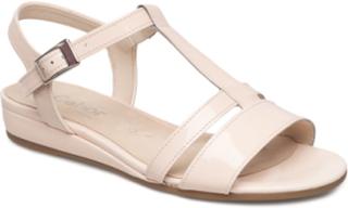 High-Heeled Sandal Flate Sandaler Beige GABOR