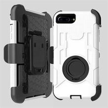 Solid hårt fodral med bältesklämma för iPhone 7 Plus / iPhone 8 Plus - vit
