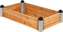 Plus Odlingslåda Pipe 140x80-Träfärgat-24