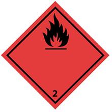 Gefahrenetikett - Entzündbares Gas