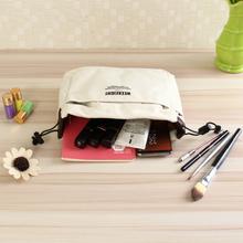 Canvas Cosmetic Reisetasche einfügen mit Compartments Make-up Handtasche