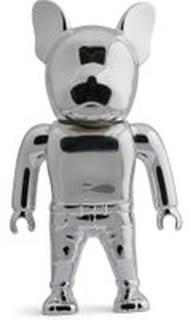 JACK & JONES Krom Bulldog Figur Unisex Sølv