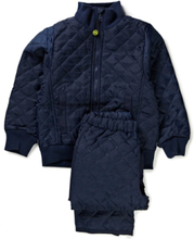 Termo Set W. Fleece In Jacket Outerwear Thermo Outerwear Blå Mikk-Line