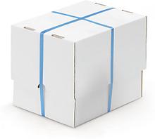 Weißer, verstärkter Stülpdeckelkarton, 1-wellig, DIN A6, A7