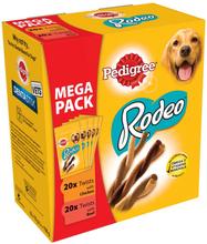 Pedigree Rodeo Mix - Megapack - 20 x kyckling, 20 x nötkött