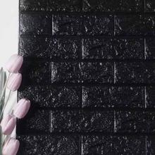 Seinätarra/Wallsticker Tiili 70cm x 77cm Musta