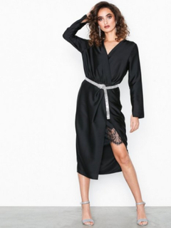 River Island LS Thandie Waisted Dress Tætsiddende kjoler