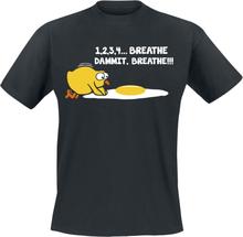 1,2,3,4... Breathe, Dammit, Breathe!!! T-shirt - svart