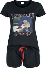 Alice in Wonderland - Need More Sleep -Pyjamas - svart