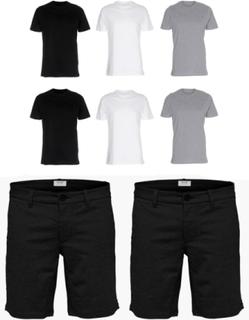 2 stk. Performance Shorts + 6 Stk. T-shirts