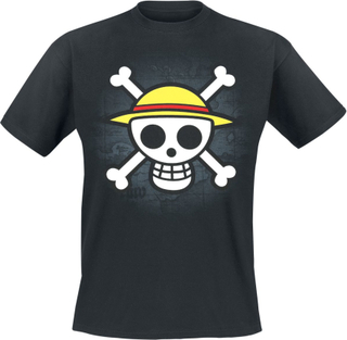 One Piece - Skull With Map - T-shirt - svart