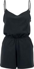Urban Classics - Ladies Short Spaghetti Jumpsuit - Träningsoverall - svart