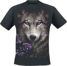 Spiral - Wolf Roses - T-shirt - svart
