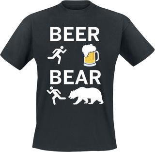 Beer - Bear - Beer - Bear - T-shirt - Herr-T-shirt - svart