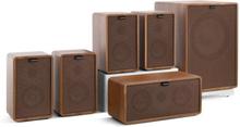 Retrospective 1979-S 5.1 Soundsystem valnöt inkl. överdrag i brunt