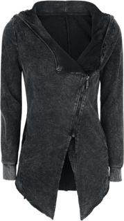 Forplay - Asymetric Vintage Zipper - Luvjacka - svart