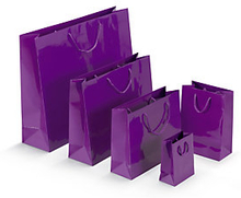 Lack Tasche 40 x 12 x 32 cm violett