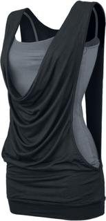 Forplay - Open Double Layer - Topp - svart|grå