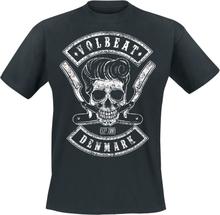 Volbeat - Denmark Skull -T-skjorte - svart