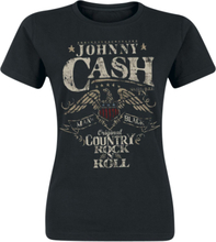 Johnny Cash - Rock 'n' Roll -T-skjorte - svart