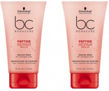 Schwarzkopf BC Bonacure Peptide Repair Rescue Sealed Ends Duo 2x75ml