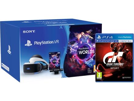 Playstation VR (inkl. Kamera) + Gran Turismo Sport + VR Worlds