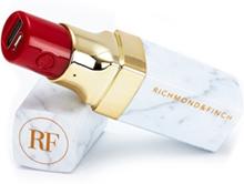 Richmond & Finch 2600mAh Powerbank med läppstiftsdesign i vit marmor