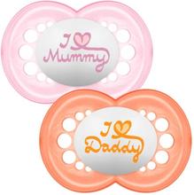 MAM Style 6+ Maanden Sut 2 STUKS - Pink & Orange