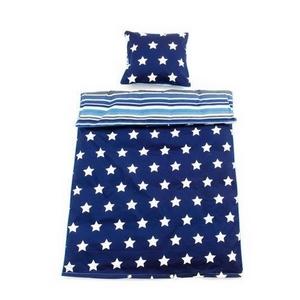Smallstuff baby sengetøj, Navy Stars - Babytorvet.dk