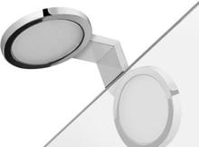 Hefe Majorca LED spegellampa, väggmontering, krom