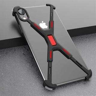 R-JUST Stötsäker X-formad metallfodral fodral fodral för iPhone XR 6.1 tum