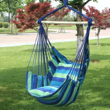 Portable Swing Chair Hammock Hanging Rope Chair Swing Seat with 2 Pillows for Indoor Outdoor Garden 2019 NEW 130x100cm