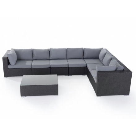 Dynfodral till loungegrupp grå GRANDE