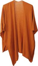 Kasjmier-blend omslagdoek in zacht-oranje