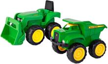Tomy John Deere Traktor & Dump Truck Stel