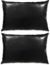 vidaXL Kudde 2 st PU 40x60 cm svart