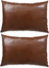vidaXL Kudde 2 st PU 40x60 cm brun