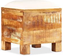 vidaXL Förvaringsbänk massivt återvunnet trä 40x40x45 cm