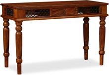 vidaXL Skrivbord massivt sheshamträ 120x50x76 cm